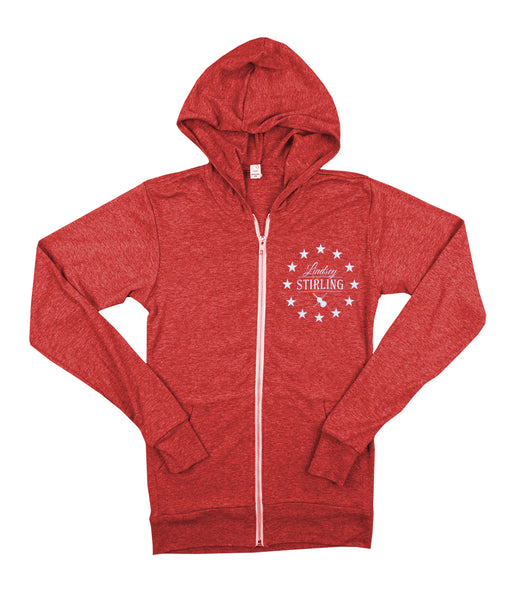 Lindsey Stirling Circle Stars Light Weight Zip Hooded Sweatshirt