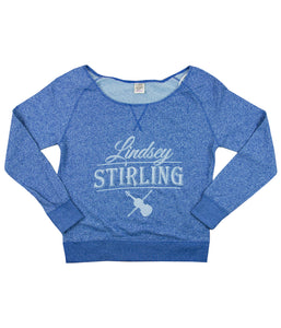 Lindsey Stirling Logo Womens Lt. Blue Crewneck Sweatshirt