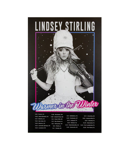 Lindsey Stirling Warmer In The Winter 2019 Tour Poster