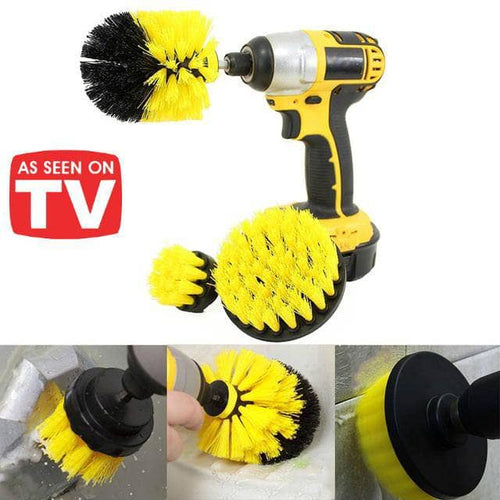 PowerScrub™ Drill Brush - 3 Piece Set