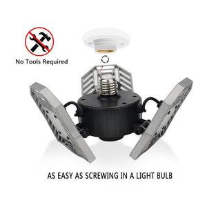 Tri-Beam™ Adjustable LED Garage Ceiling Light Bulb