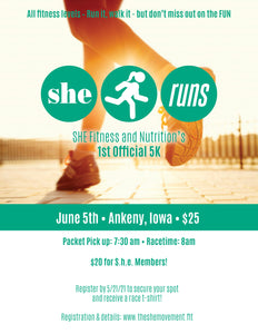 S.H.E. Runs 5K Registration