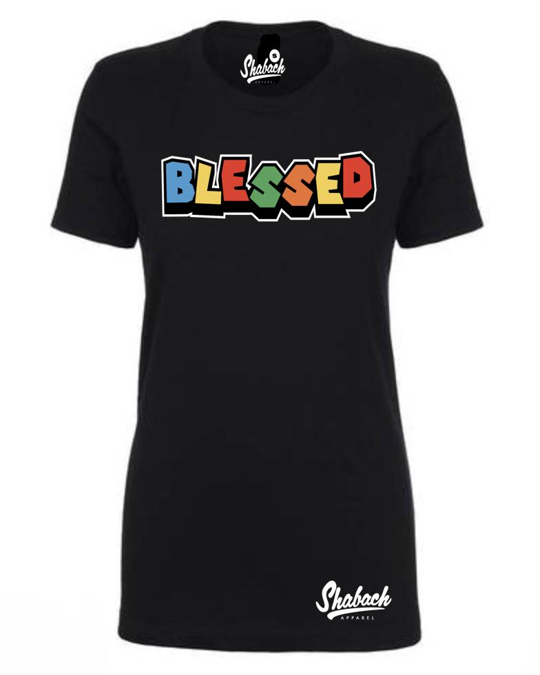 "Black - ""Blessed"" T-Shirt - Women's"