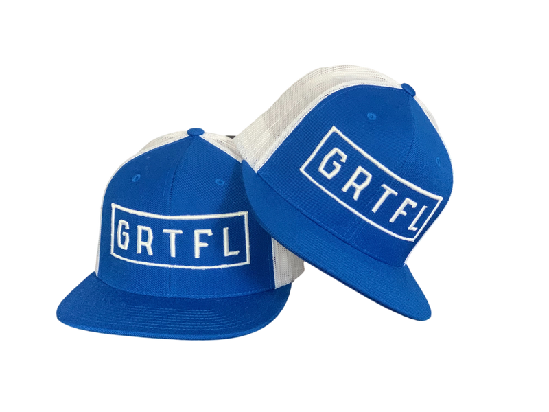 GRTFL - Blue/White Snapback Trucker Hat