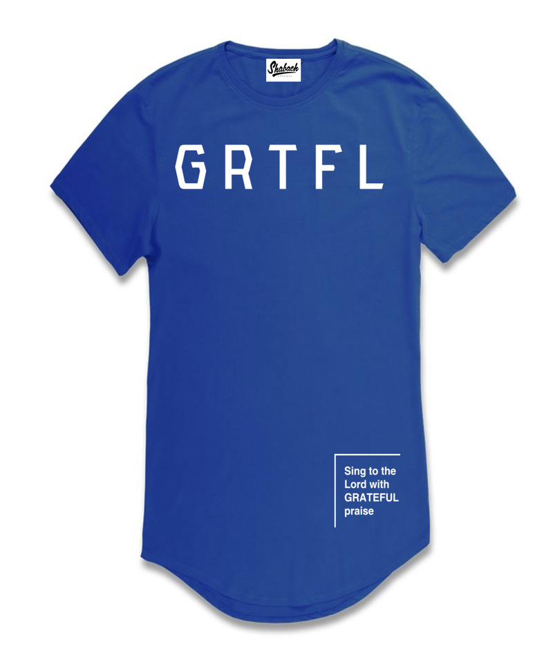 Grateful - Scoop T-Shirt (Blue)