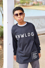 Kids long sleeve Knowledge shirts