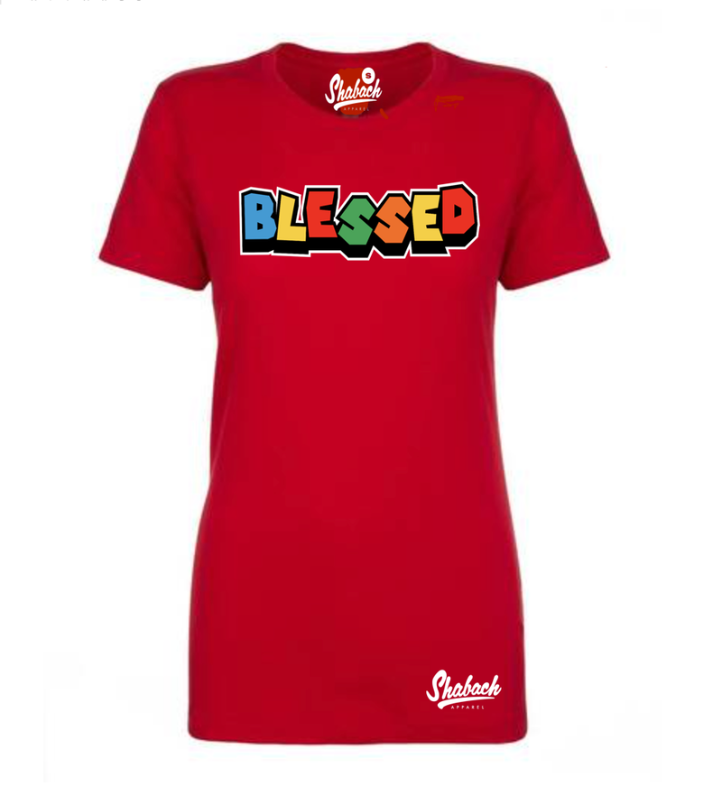 "Red - ""Blessed"" T-Shirt - Women's"