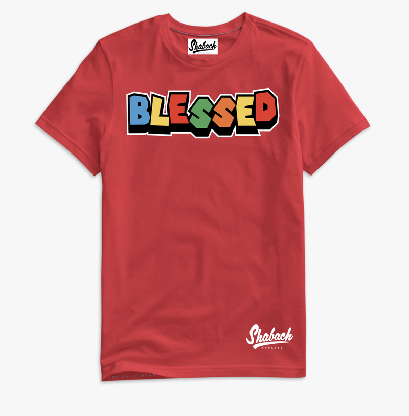 "Red - ""Blessed"" T-Shirt"