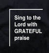 Grateful - Scoop T-Shirt (Black)