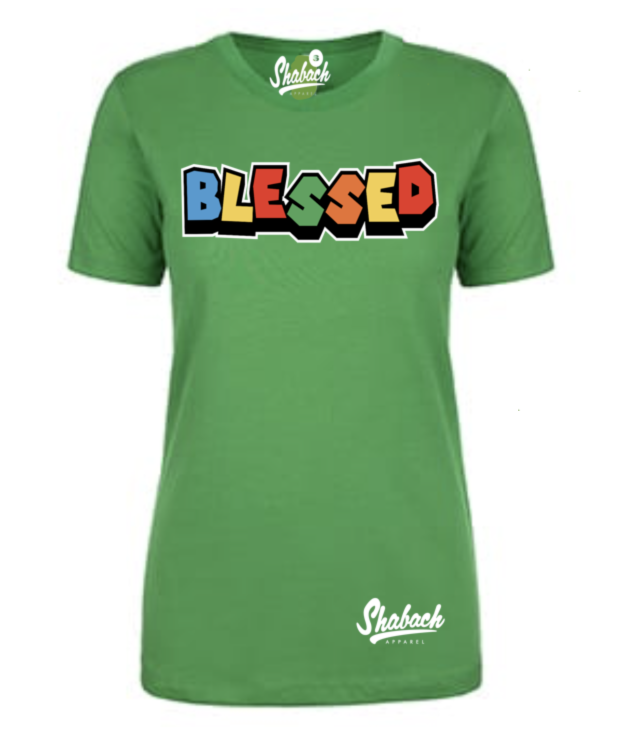"Green - ""Blessed"" - Women's"
