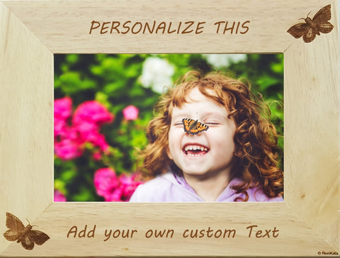 Personalized Picture Frames Smooth Bamboo Wood – RenKata.com