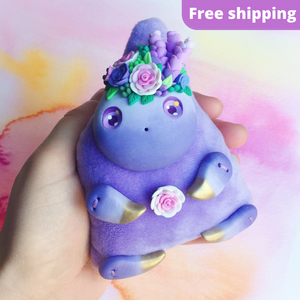 * FREE SHIPPING * Lavender Art Doll #3 - Lavender and Roses