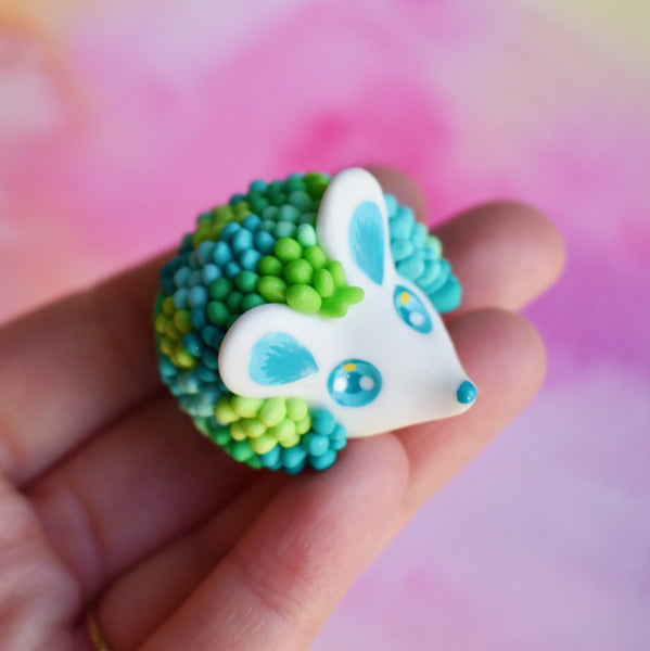 Blue Green Succulent Hedgehog
