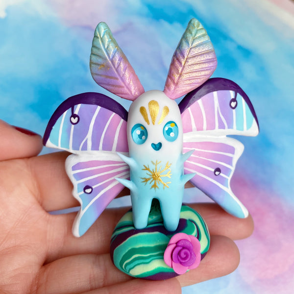 Blue & Pink Butterfly Figurine