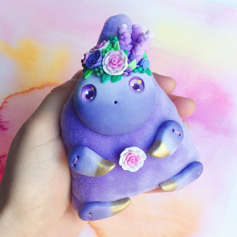 *free shipping* Lavender Art Doll #3 - Lavender and Roses