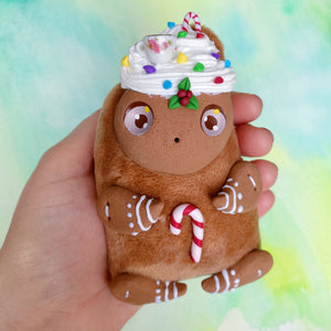 Cute Gingerbread Friend - Hot Chocolate - Art Doll #12