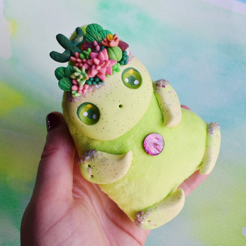 *free shipping* Green Cactus and Succulent - Art Doll #5