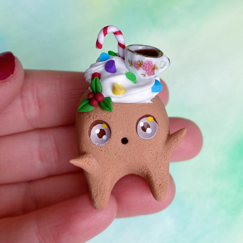 Cute Gingerbread Wisp - Hot chocolate !