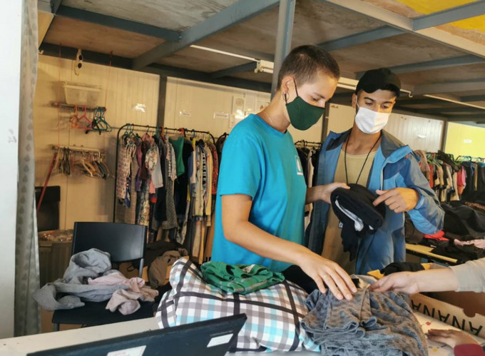 Providing clean clothes and baby supplies in 'Moria 2.0' refugee camp