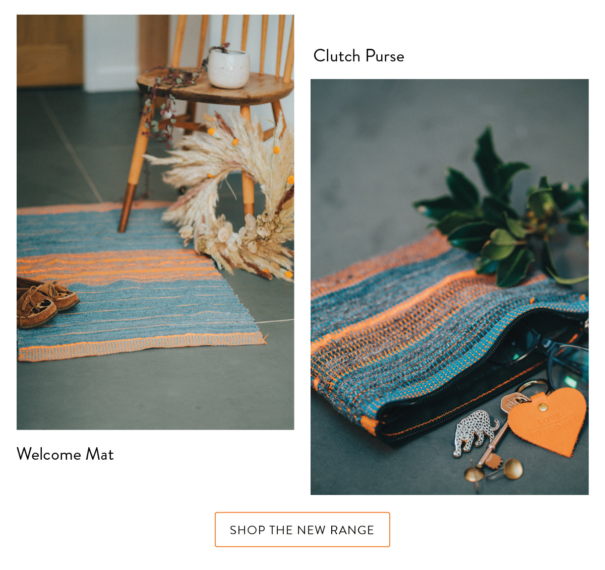 Love Welcomes - Welcome Mat & Clutch Purse