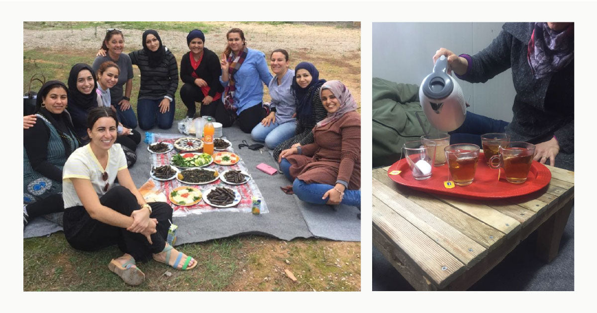 Women of Love Welcomes enjoying lunch together