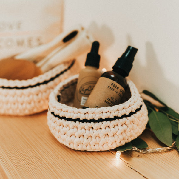 Medium Basket - Ivory - Love Welcomes