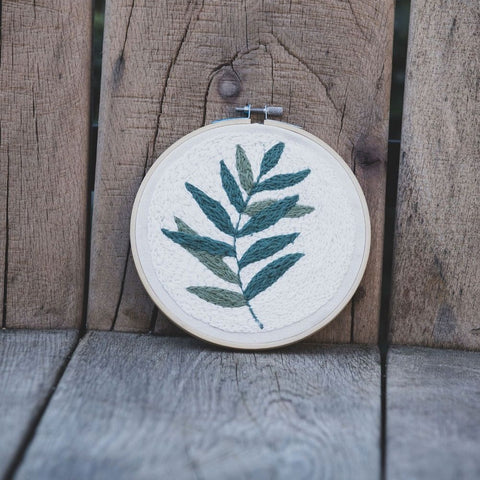 Embroidery Hoop – Olive Leaves - Love Welcomes