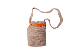 Crocheted Shoulder Bag - Tan - Love Welcomes