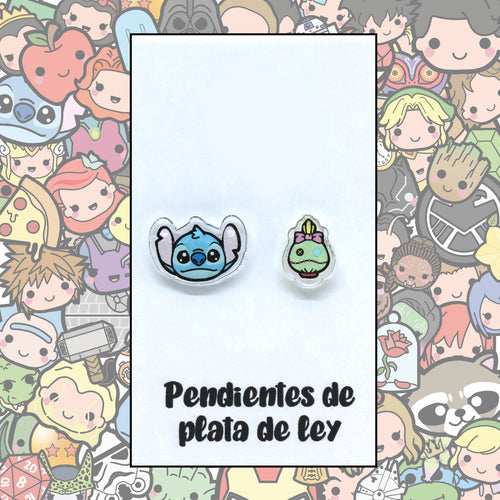 Lilo y Stitch Pendientes Kawaii Stitch y Skrump