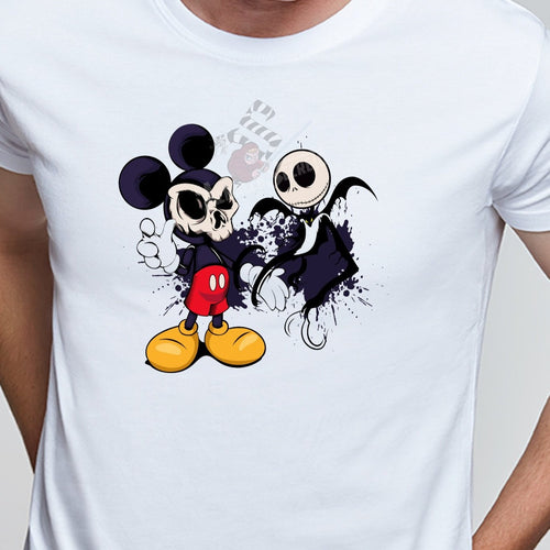 Disney Camiseta Mickey y Jack Skeleton