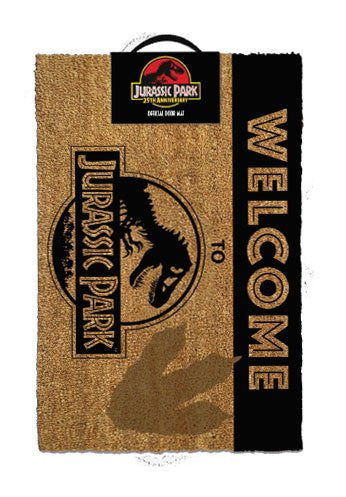 Jurassic Park Felpudo Welcome To Jurassic Park