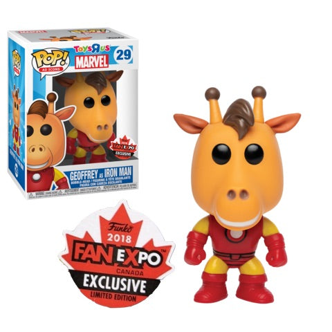 Toys R Us POP! Vinyl Geoffrey As Iron Man Canadian Convention Exclusive