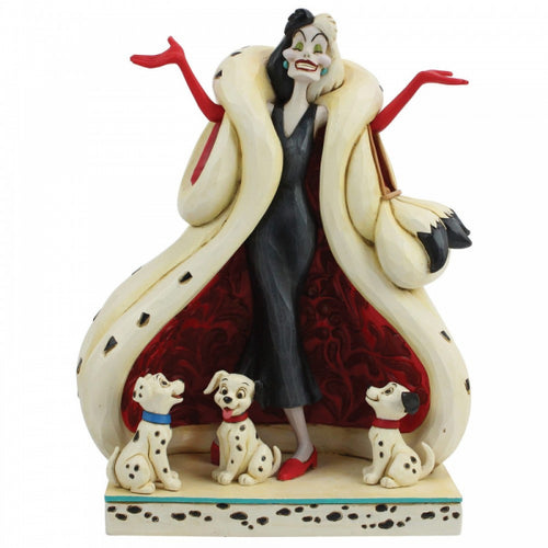 The Cute and the Cruel Figura Cruella y Cachorros