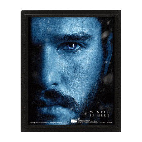 Juego De Tronos Poster 3D Lenticular Jon Snow vs Night King