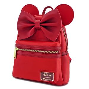 Disney Mini Mochila Loungefly Minnie Orejas y Lazo Roja