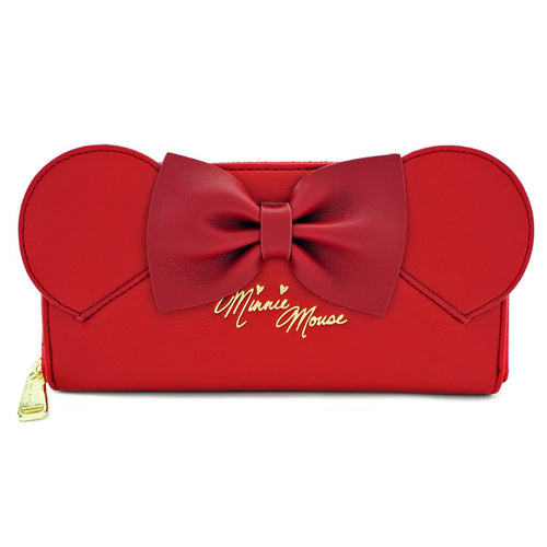 Disney Cartera Loungefly Minnie Orejas y Lazo Roja