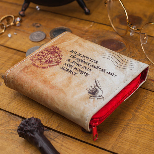 Harry Potter Cartera Tarjetero Carta Hogwarts
