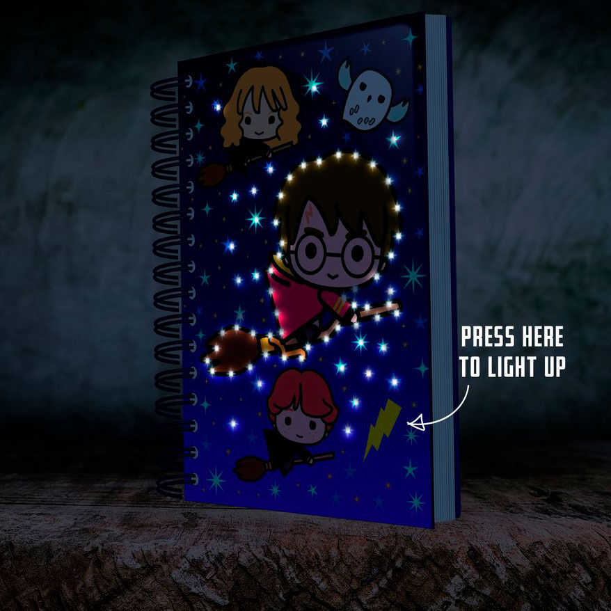 Harry Potter Cuaderno A5 Led Kawaii