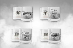 Harry Potter Set Vasos de Cristal Hechizos
