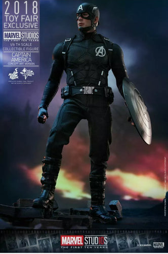 Marvel Ten First Years Figura 1/6 Masterpiece Captain America Concept Art Version Toy Fair 2018 Exclusive