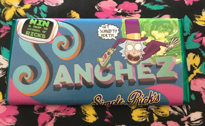 Rick y Morty Tableta de Chocolate Sanchez Simple Rick's