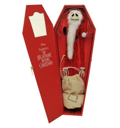 Pesadilla Antes de Navidad Santa Jack Skeleton Coffin Version