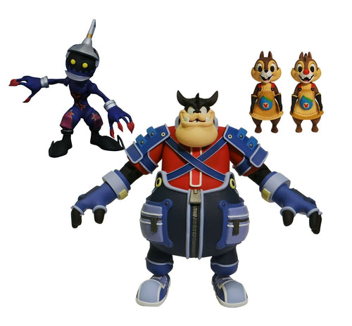Kingdom Hearts Pack Figuras Pete, Soldado,, Chip y Dale