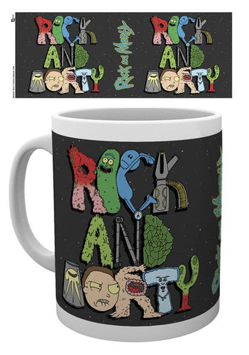 Rick y Morty Taza Letters