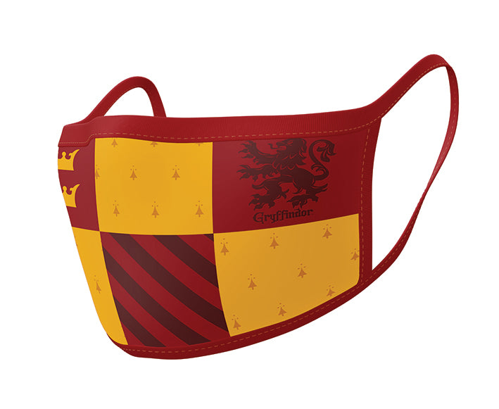 Harry Potter Pack de 2 Cubrebocas Gryffindor