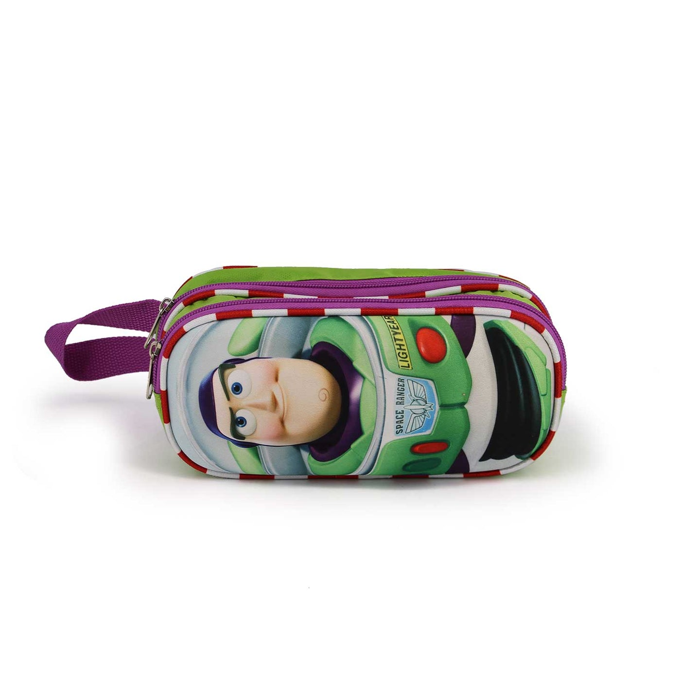 Toy-Story-Estuche-Portatodo-Doble-3D-Buzz-Lightyear-Vista-Frontal