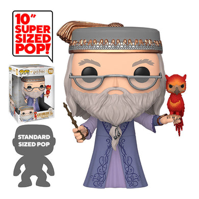 Harry Potter Super Sized 10'' POP! Vinyl Dumbledore with Fawkes