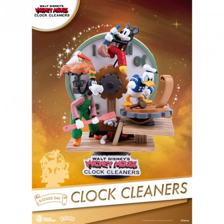 Disney Clock Cleaners Diorama PVC D-Stage Mickey, Donald and Goofy