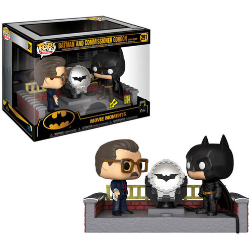 Batman 80th Movie Moment POP! Batman & Comisario Jim Gordon Light Up!