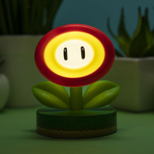 Super Mario Lámpara 3D Red Flower